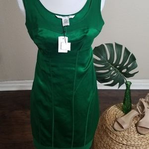 DVF NWT Silk Poison Green dress